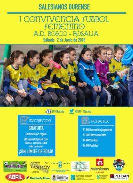 I Convivencia del fútbol femenino EFF Rosalía – AD Bosco @ Salesianos | Orense | Galicia | España