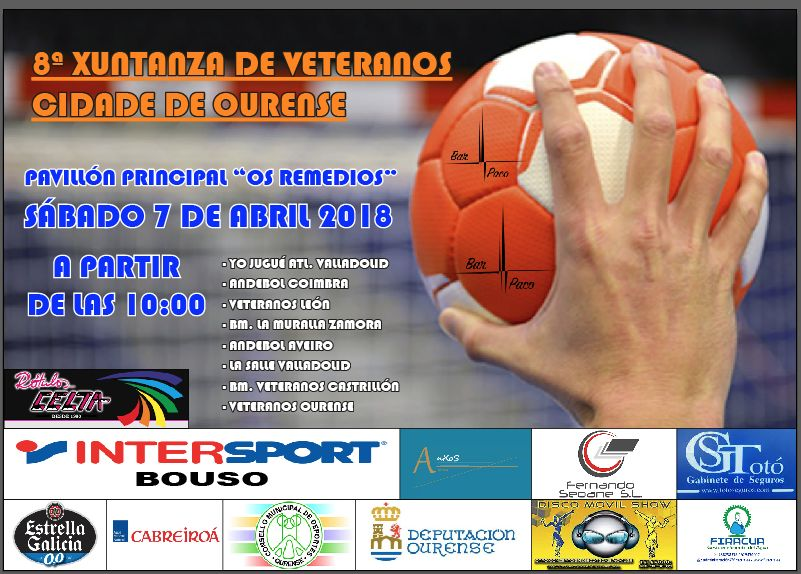 Xuntanza de veteranos de cidade de Ourense balonmano 2018