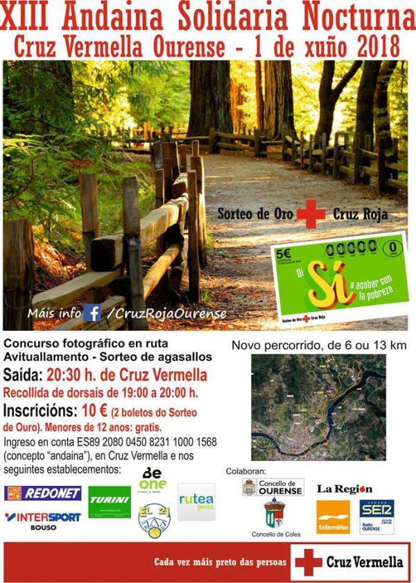 XIII Andaina Solidaria Nocturna Cruz Vermella Ourense @ Ourense