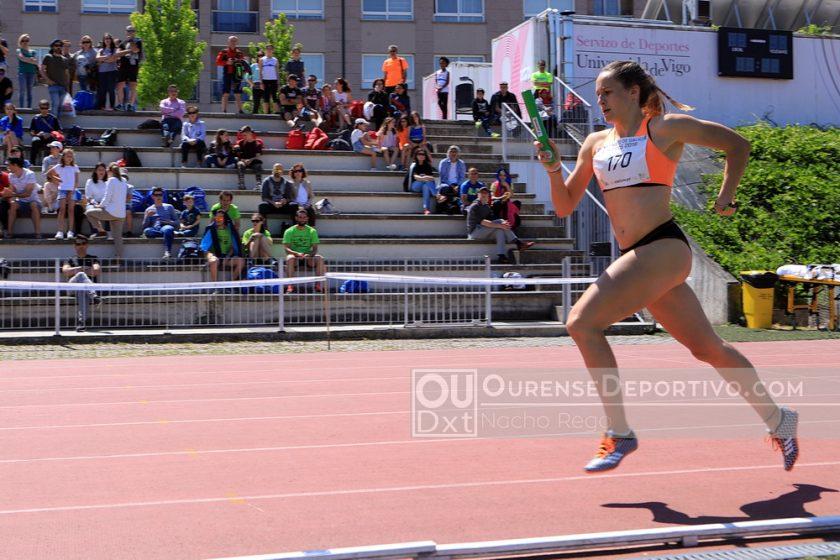 Atletismo Gallego Relevos Paula Foto Nacho Rego