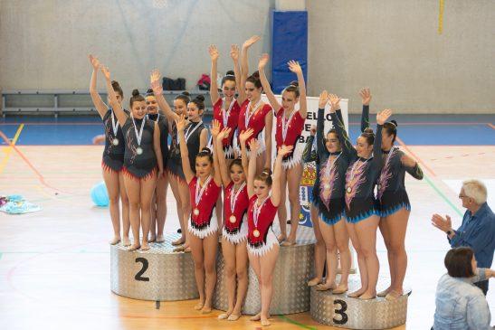 Pleno para Ximnasia Pavillón na competición individual da Copa Deputación