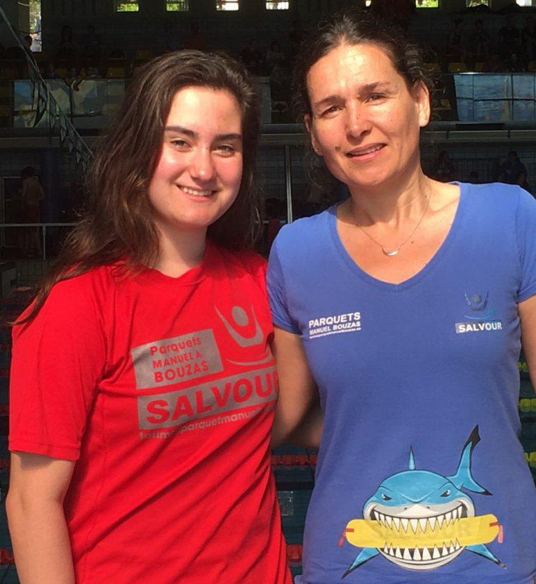 Eva Espinosa con su entrenadora Marta