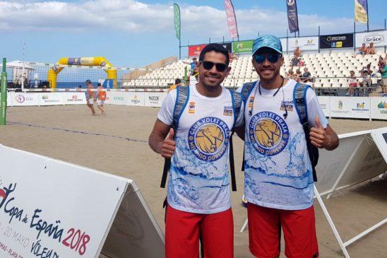 Escalona y Tovar representan al Milenio Ourense en el Nacional de volei playa