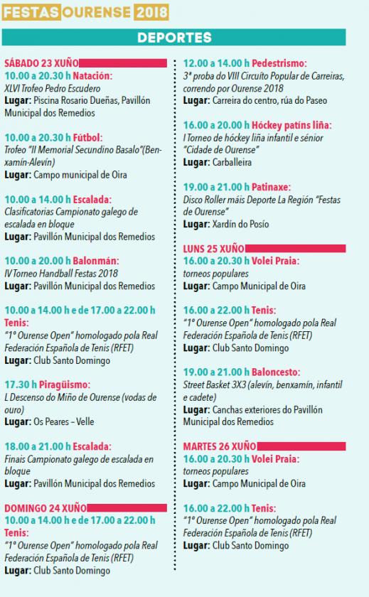Programa Fiestas Ourense
