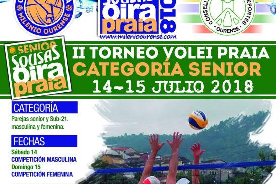 Oira acoge el segundo torneo del Circuito Sousas de Voley Playa