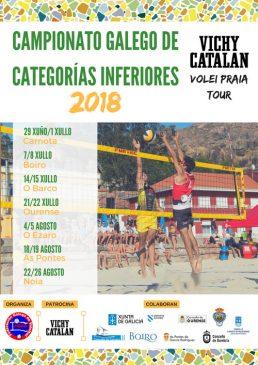 O Circuito Vichy Catalán Volei Praia Tour chega a Ourense tras pasar por Valdeorras