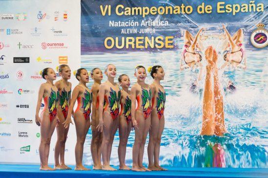 Excelente balance del Campeonato de España Alevín-Junior de natacion artistica celebrado en Ourense