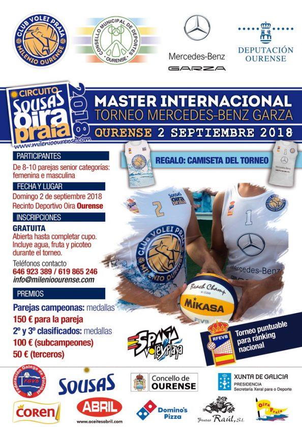 Voleiplaya: Master Internacional 2018 @ Oira - Campo de voleipraia