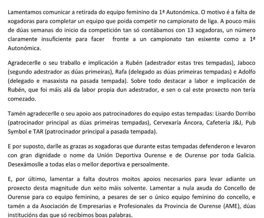 UD ourense femenino 2018