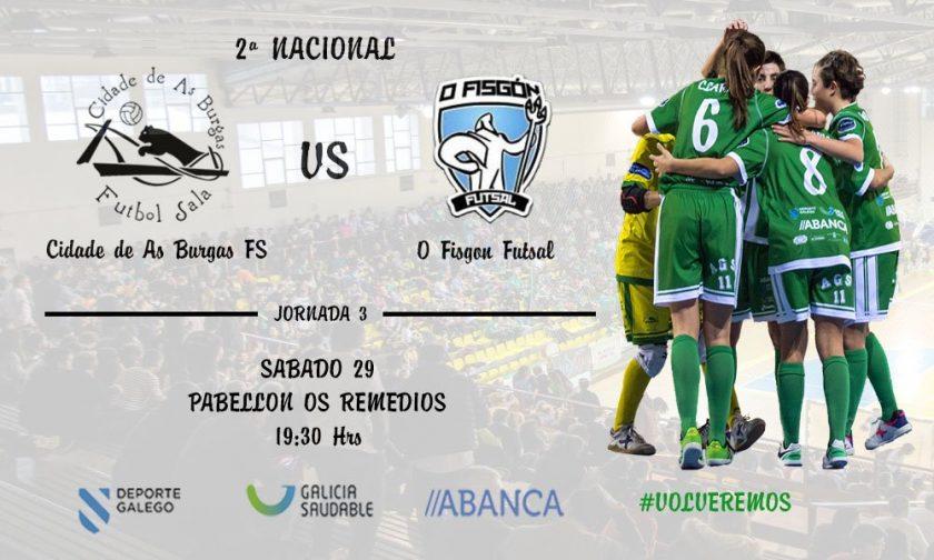 Cidade de As Burgas - O Fisgón Futsal @ Pabellón Os Remedios
