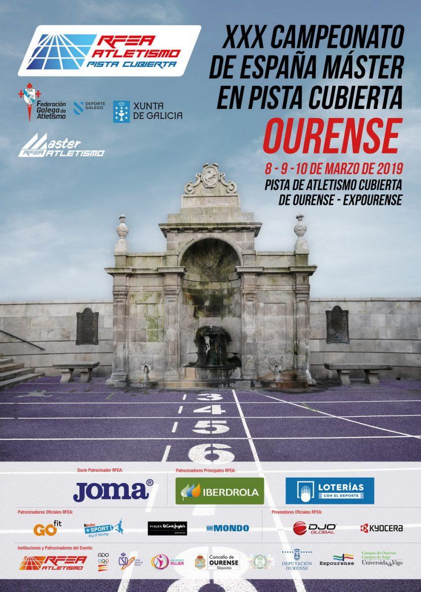 Campeonato de España Master en Pista Cubierta 2019 @ Expourense - Pista Cubierta | Orense | Galicia | España