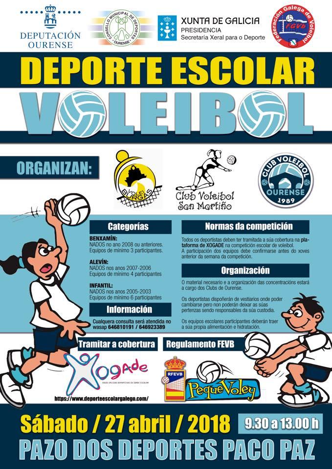 Xornada Voleibol Escolar @ Pazo Paco Paz