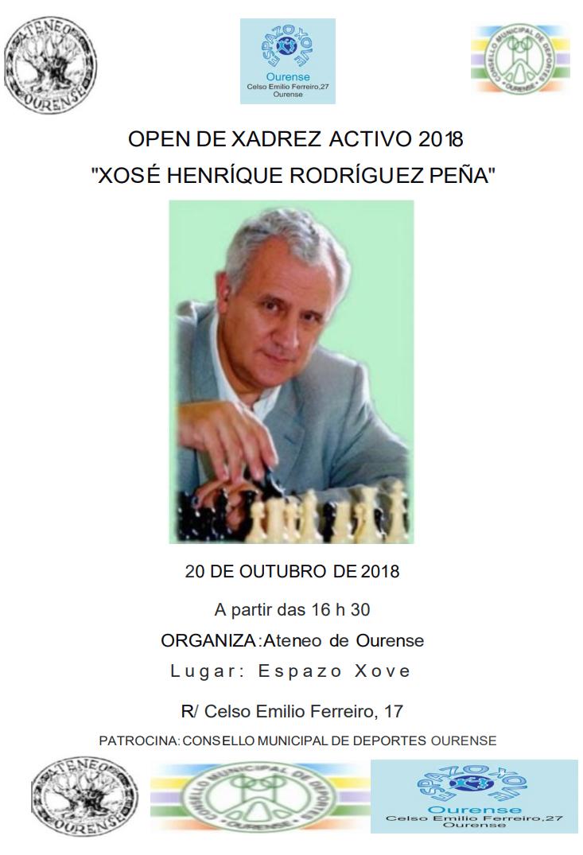 Memorial Xosé Henrique Rodríguez Peña 2018 de xadrez @ Espazo Xove Ourense