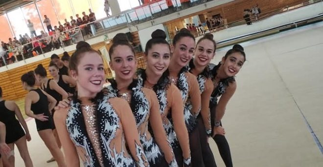 Ximnasia Pavillón Ourense lidera o ranking da Liga Federacións de Ximnasia Estética de Grupo trala fase de Lleida