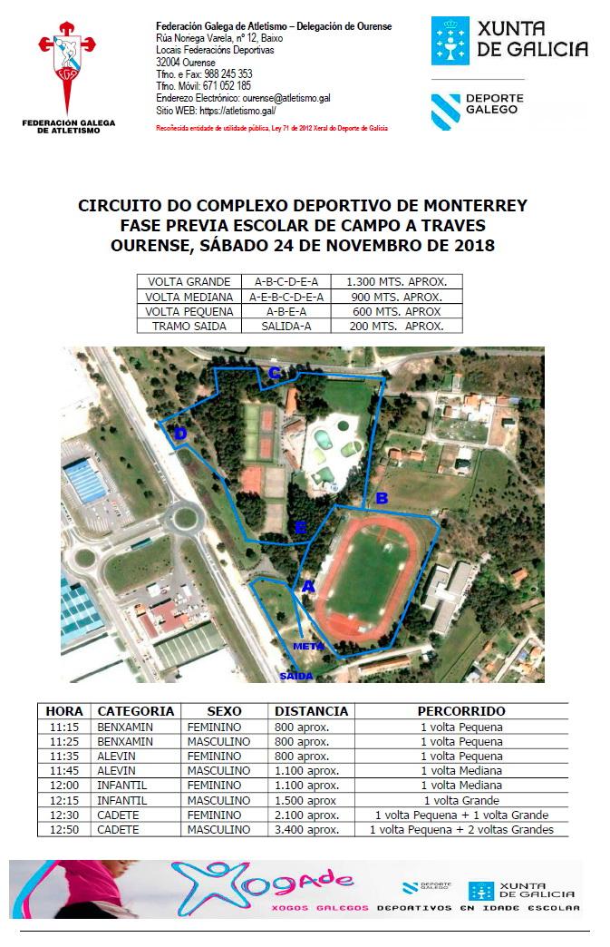 Campo a través - Xogade - Fase previa escolar Ourense @ Complexo Deportivo Monterrei