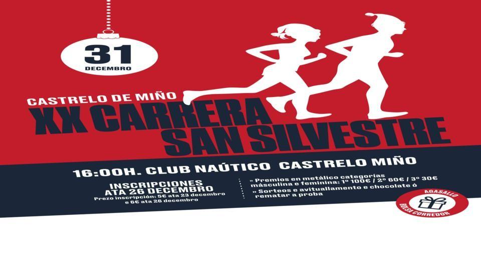 XX San Silvestre de Castrelo de Miño @ Club Naútico de Castrelo de Miño | Galicia | España