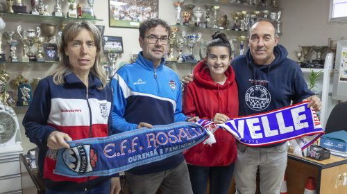 Convenio de colaboración entre las escuelas de Fútbol de CD Velle y EFF Rosalía