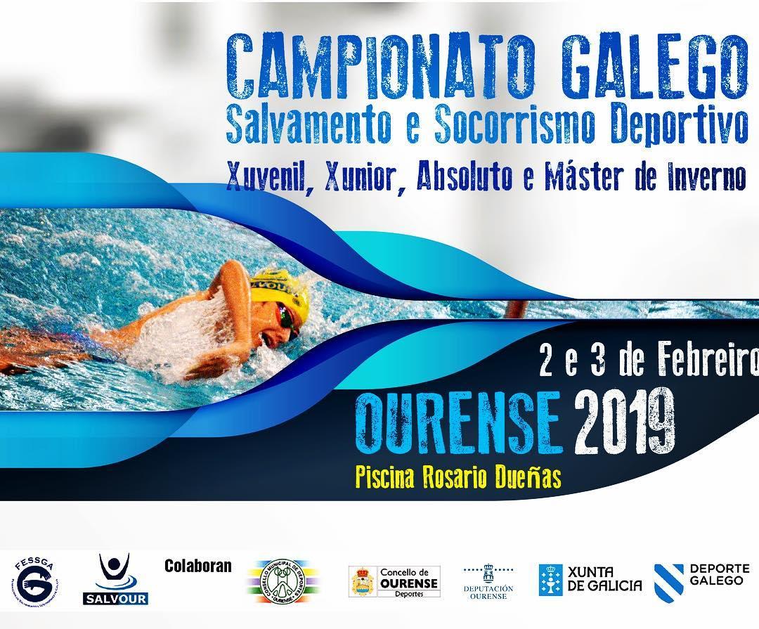 Campeonato Gallego de Salvamento y Socorrismo deportivo @ Piscina Rosario Dueñas | Orense | Galicia | España