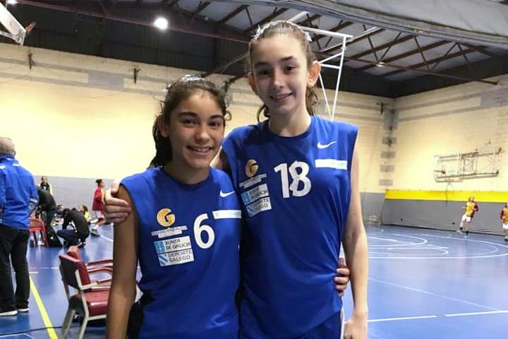 Lucía Sotelo y Yhoranna Dias BOSCO Salesianos Baloncesto