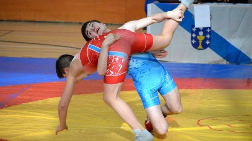Derribo categoría escolar lucha olimpica