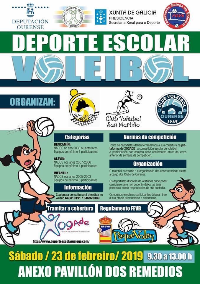Voleibol Deporte Escolar - Categorías benjamín, alevín e infantil @ Anexo de Os Remedio | Orense | Galicia | España
