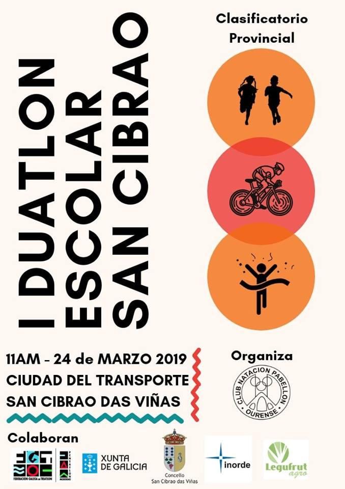 I Duatlón Escolar San Cibrao @ Ciudad de transporte | San Ciprián de Viñas | Galicia | España