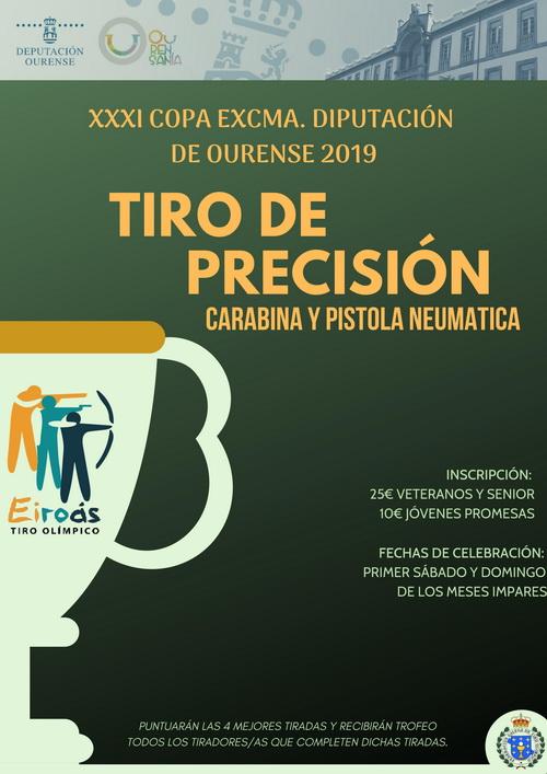 Copa Diputación de Tiro Olímpico | Carabina y Pistola neumática @ Club de Tiro Olímpico Eiroás | Orense | Galicia | España
