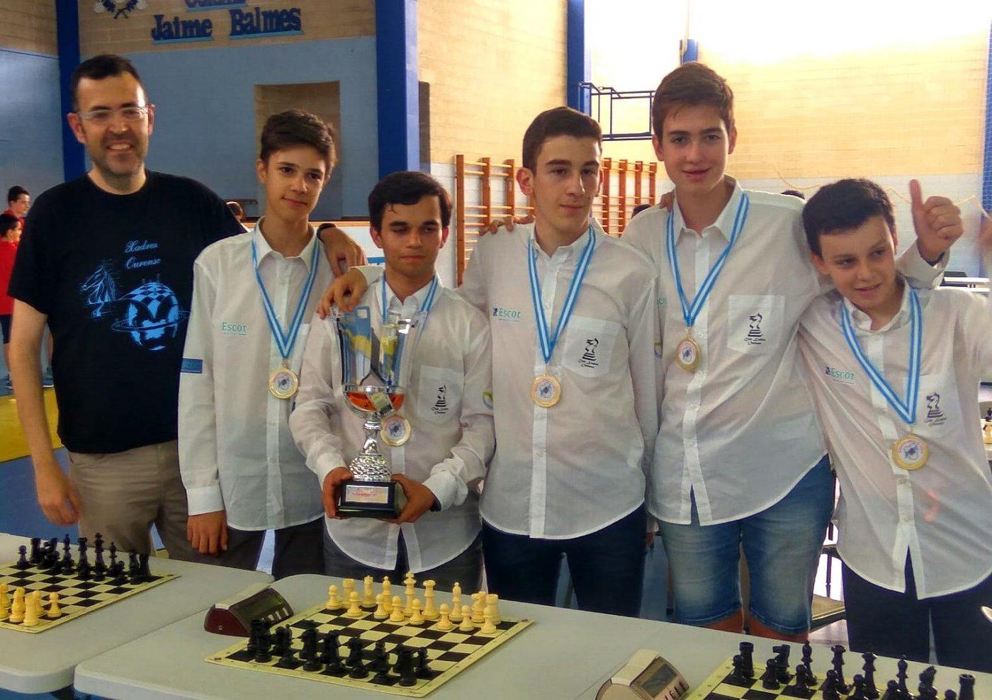 Xadrez Ourense Cadete. Campeón Copa Galicia Equipos 2019.