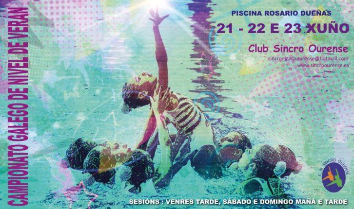 Campeonato Galego de Nivel Verán de Natación artística @ Piscina Rosario Dueñas | Orense | Galicia | España