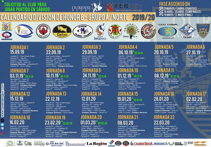 CALENDARIO rugby ourense 19-20