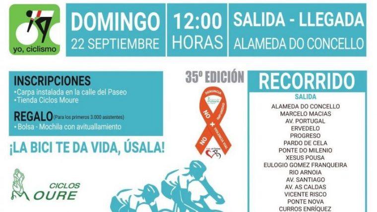 """El 35º """"Día da Bici"""" regresa el domingo con el lema """"NO + VIOLENCIA VIAL NO + IMPUNIDAD"""""""