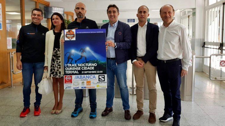 El I Trail Nocturno Ourense Cidade Termal recorrerá 13 km por lugares emblemáticos de la ciudad