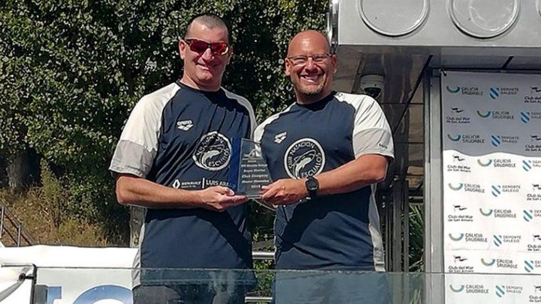 Los máster del CN Escualos campeones por equipos del Circuito Gallego de Aguas Abiertas
