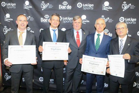 Manuel Montero premiado en la Gala del Judo Español