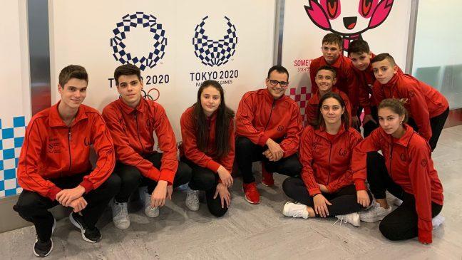 Nove ximnastas do Pavillón  representaron a España no Campionato do Mundo de trampolín por idades