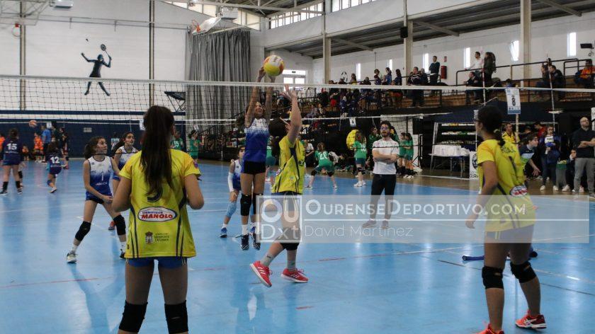 campeonato gallego de voleibol de categorías Benjamin y Alevín