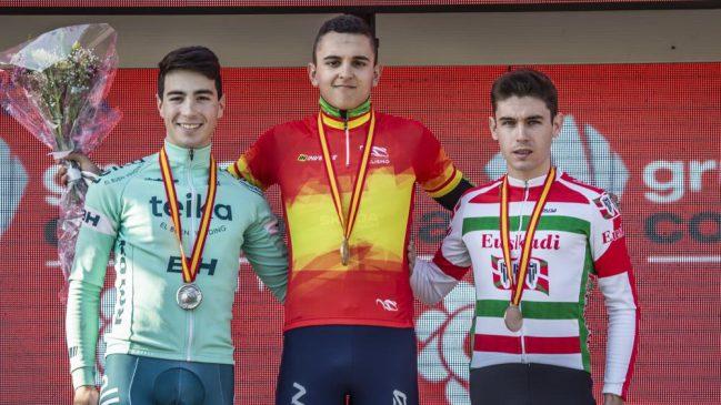 ciclocross Iván Feijóo podio