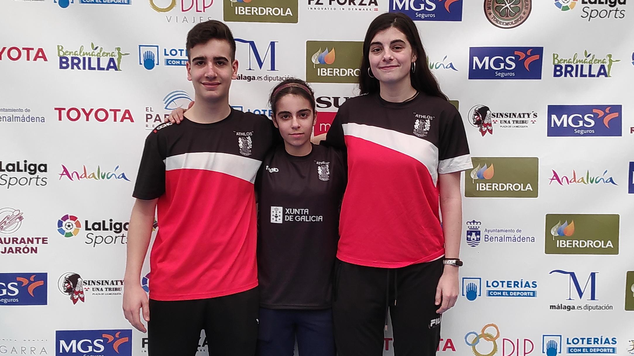 Athlos badminton Martín Iglesias y Ana Nóvoa. Sara Ezquerro