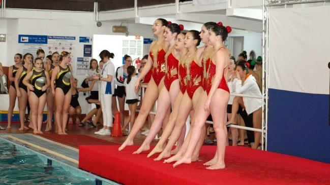 Buena actuación de las Infantiles y Junior de Sincro Ourense en la Copa Promoción de natación artística