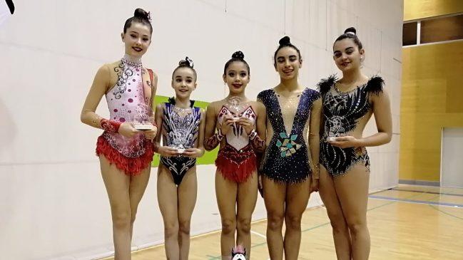 Excelente competición de las gimnastas del Club Marusia en Ribadeo