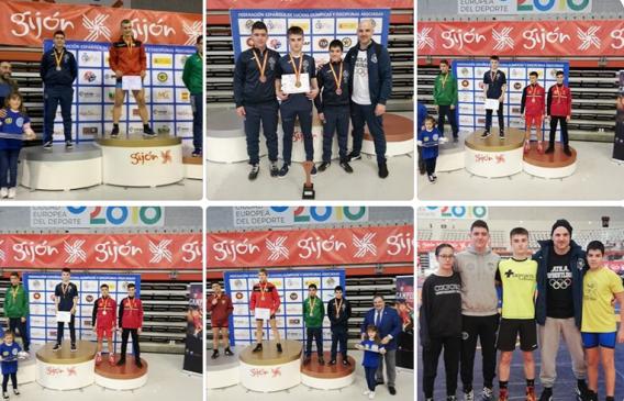 Tres medallas para el Club Atila en el Nacional Escolar de Luchas Olímpicas
